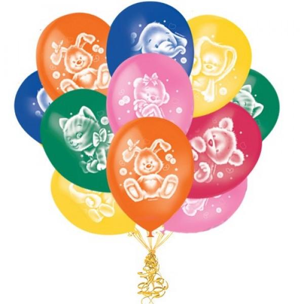 Облако из воздушных шариков Плюшевые игрушки