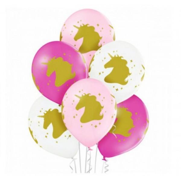 Воздушные латексные шарики Единорожки