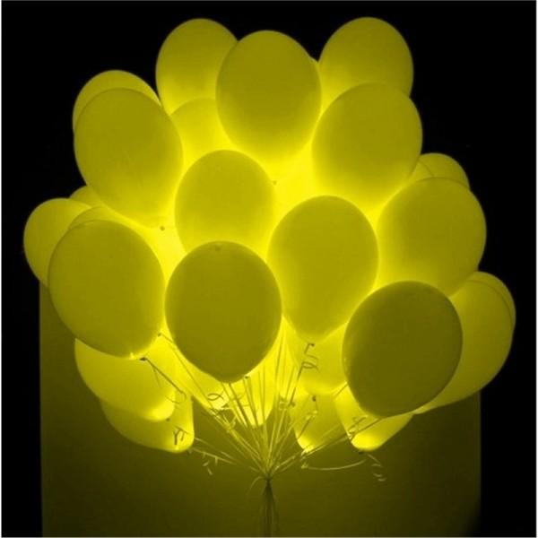 Облако светящихся шаров Желтые