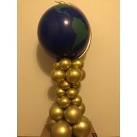 Композиция Глобус из воздушных шаров