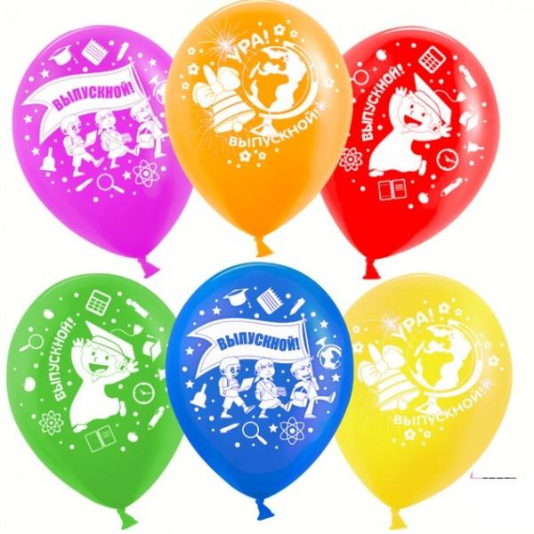 Воздушные латексные шарики Ура, Выпускной