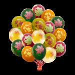 Облако из воздушных шариков Листья ( 12/30 см )