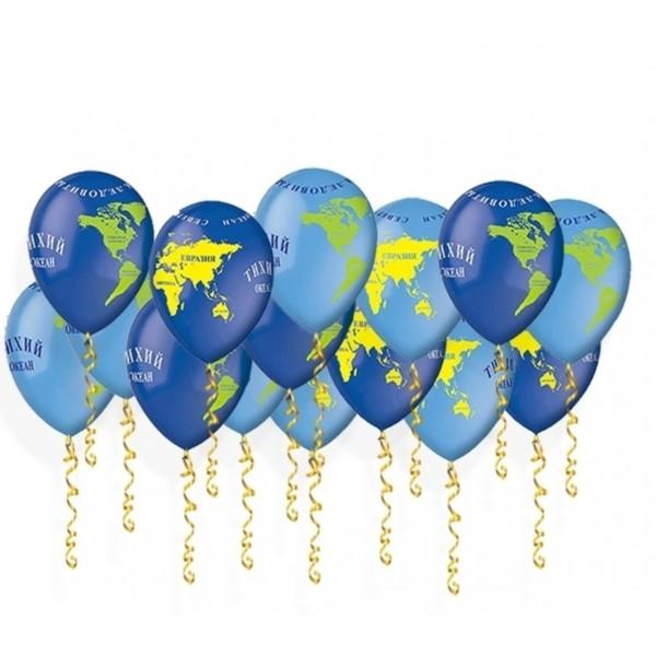 Воздушные шарики Карта мира